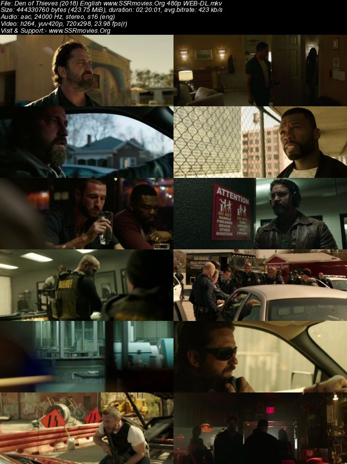 Den of Thieves (2018) English 480p WEB-DL