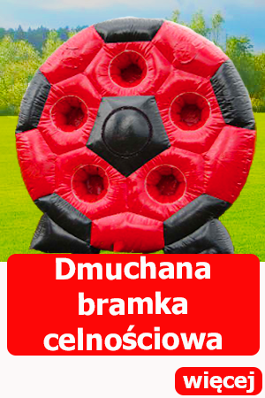 Bramka celnościowa, dmuchańce wrocław, piłkarski dart, atrakcje dla dorosłych,