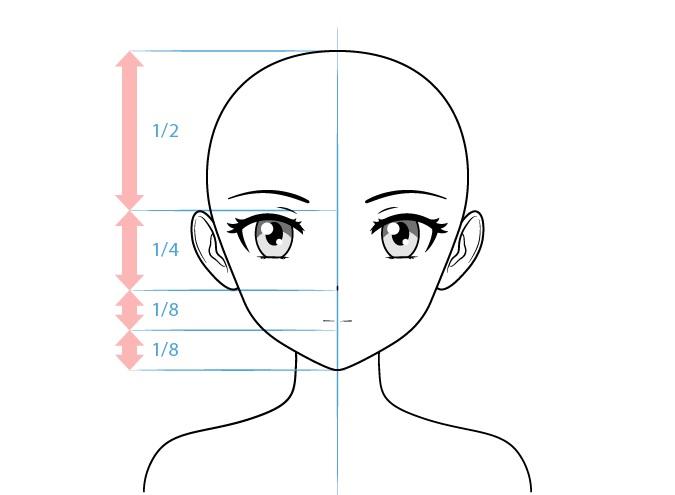 Gambar wajah karakter wanita anime tsundere