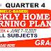 Week 4 Grade 3 Weekly Home Learning Plan Q4