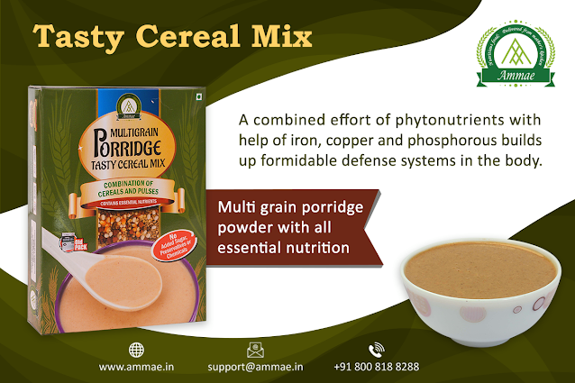 Ammae Multigrain Porridge Mix | Tasty Cereal Mix - Ammae Foods India