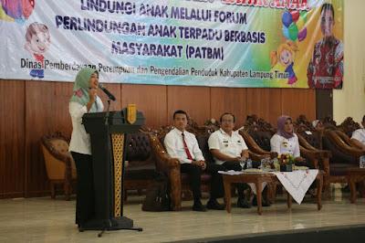 Bupati Lampung Timur Buka Sarasehan Kabupaten Layak Anak