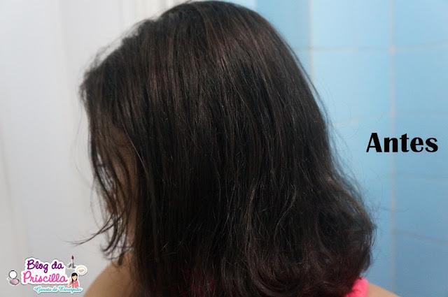 cabelo ondulado a liso