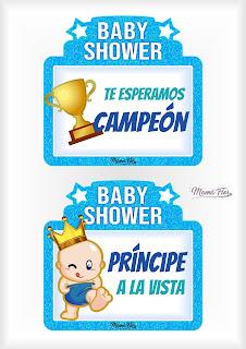 Letreros Divertidos para Imprimir Baby Shower