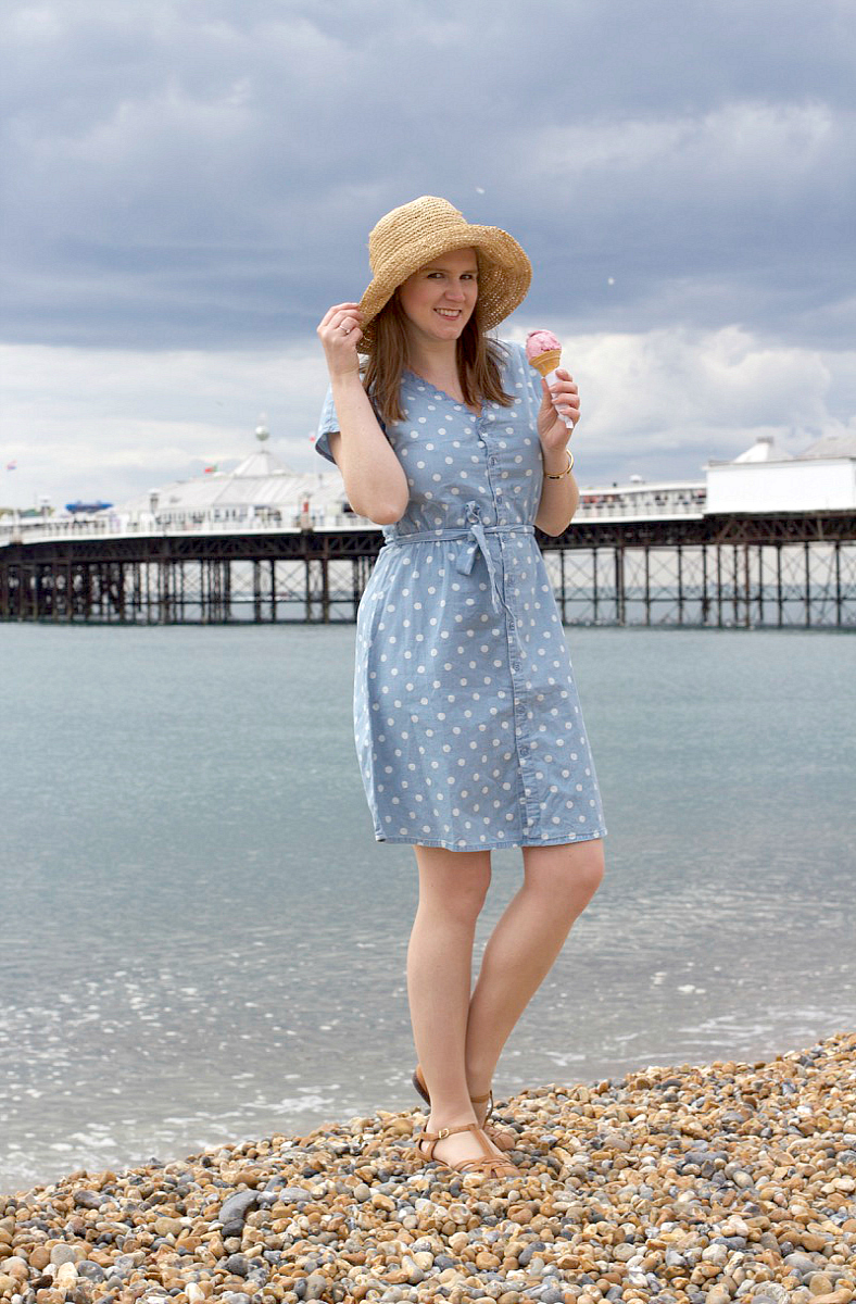 cath kidston button denim dress
