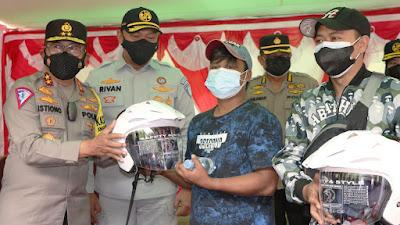 Pantau PPKM Level 4, Direktur Utama Jasa Raharja Bersama Kakorlantas Polri Sambangi Wilayah Minahasa