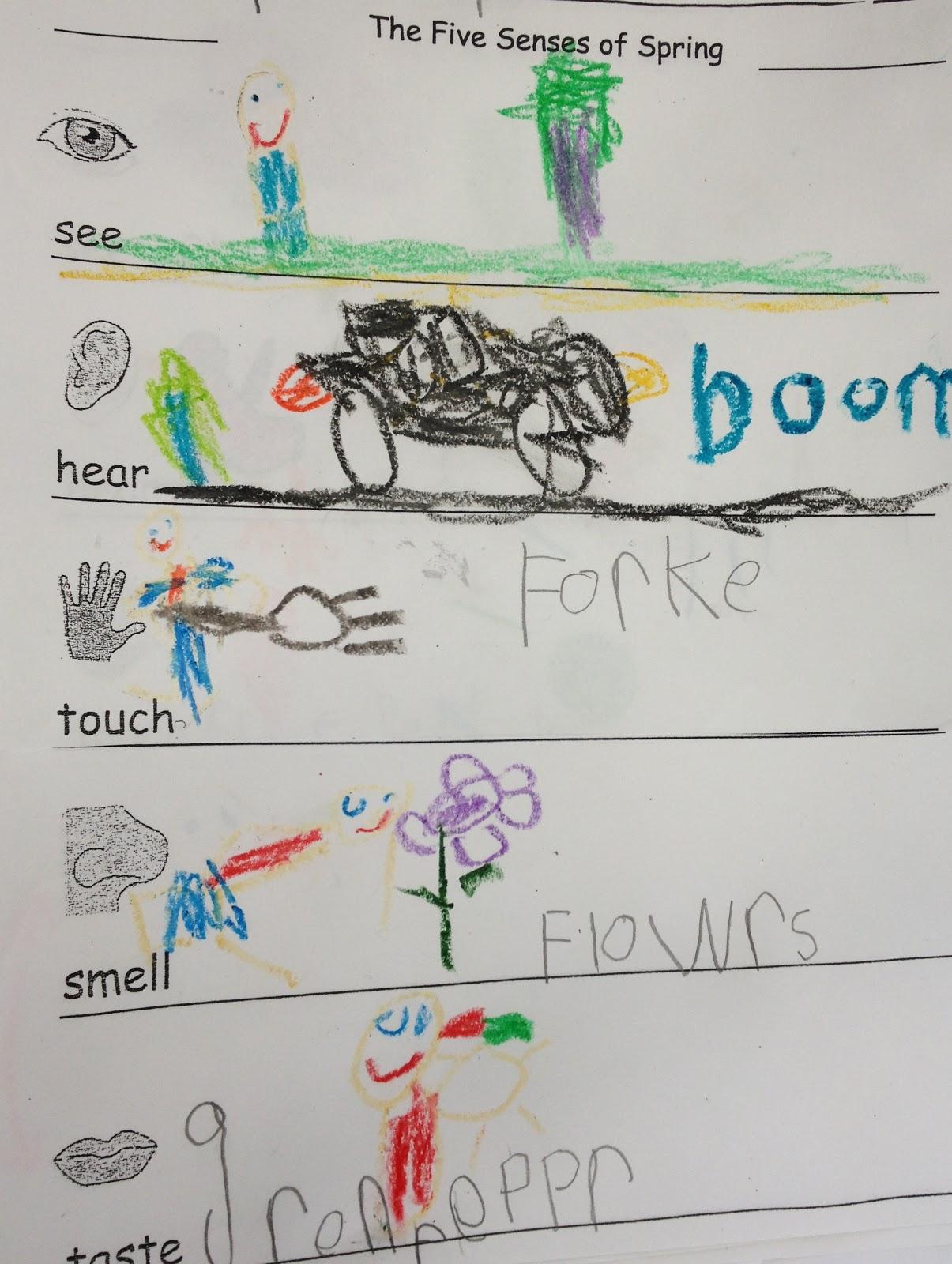 Kindergarten Korner The Five Senses Of Spring Activity