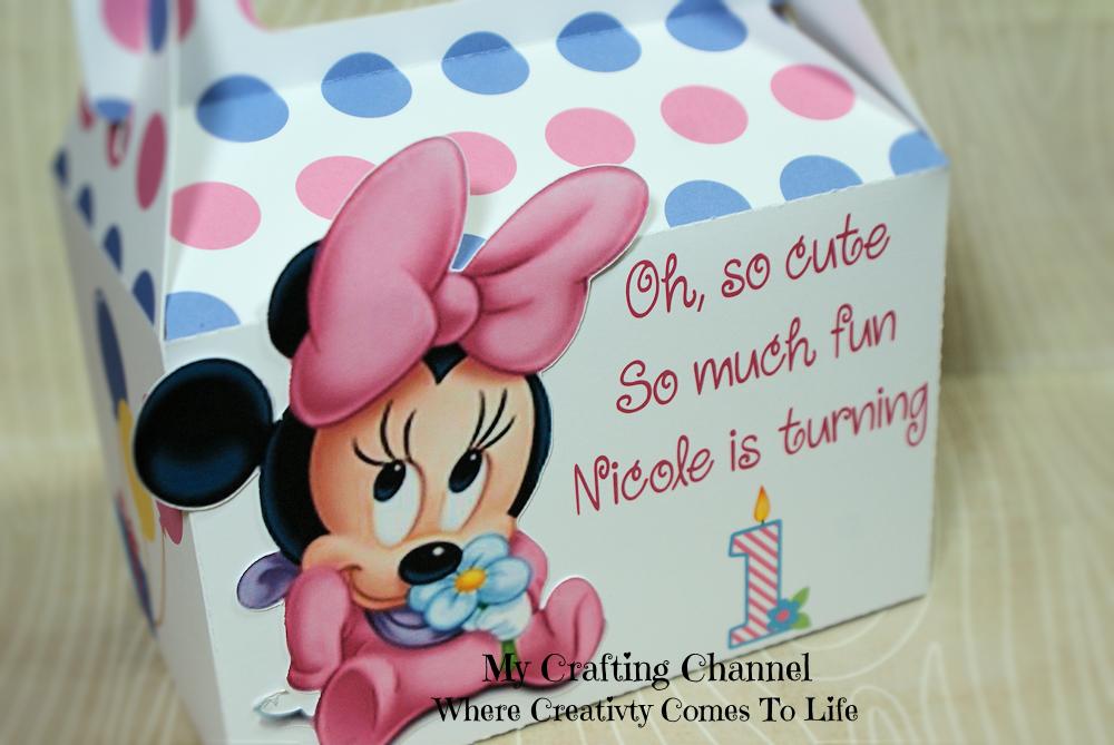 My Crafting Channel Baby Minnie Birthday Boxes 1 2 Yr