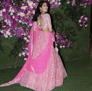 Janhvi Kapoor In Pink Ghagra
