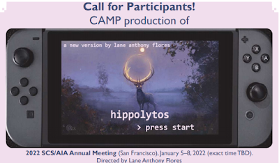 """""""Hippolytus: A New Version by Lane Anthony Flores"""""""