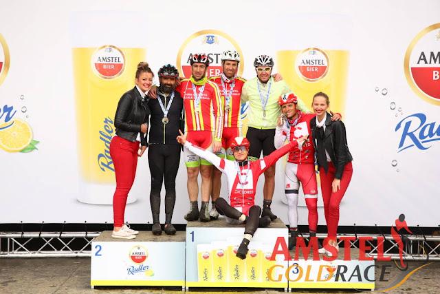 Podium en la llegada Amstel Gold Race