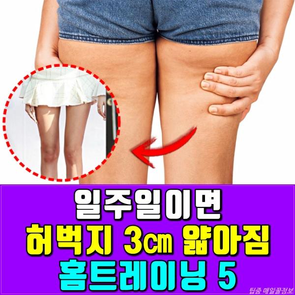허벅지 살빼는 운동, 홈트레이닝, 다이어트, 팁줌 매일꿀정보