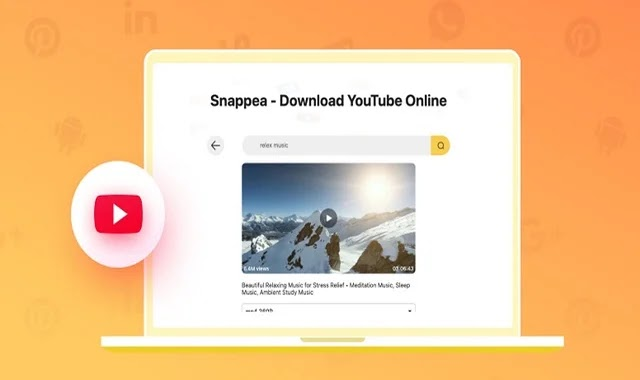 The new Snappea site that came to compete with Snap Top to download any video on YouTube, Facebook and any website on the Internet