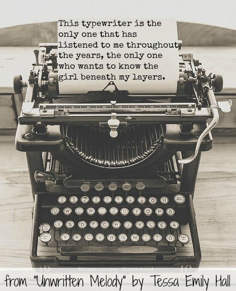 Typewriter quote from Unwritten Melody