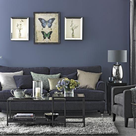 Navy Living Room