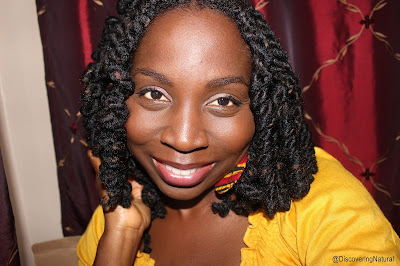 Spiral Curls on Natural Hair using Pipe Cleaners