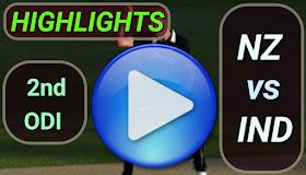 NZ vs IND 2nd ODI 2020