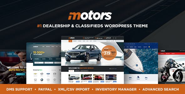 Motors v4.6.3 - Automotive, Cars, Vehicle, Boat Dealership