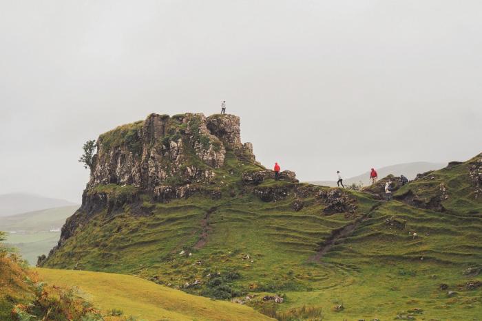 Fairy Glen sur l'île de Skye en Ecosse