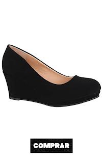 Elara Zapato de Tacón Alto para Mujer Negros Cuña Plataforma Chunkyrayan