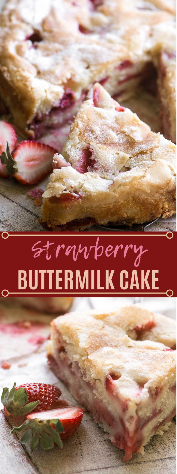 Strawberry Buttermilk Cake #cake #desserts