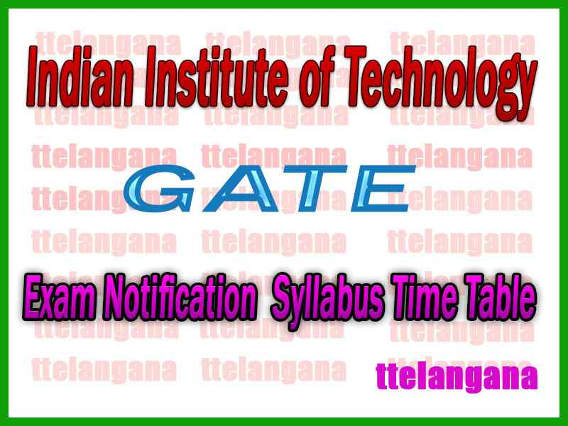GATE Graduate Aptitude Test in Engineering Notification Syllabus Time Table