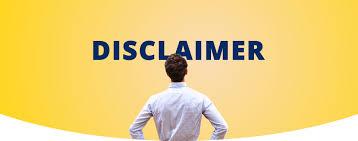 Disclaimer, Page, website, blogger