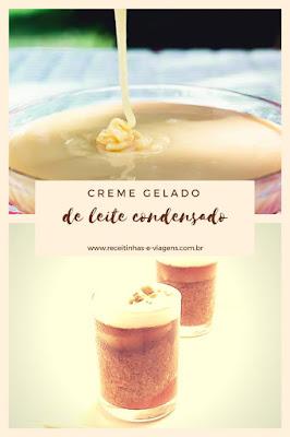 Receita de creme gelado de leite condensado