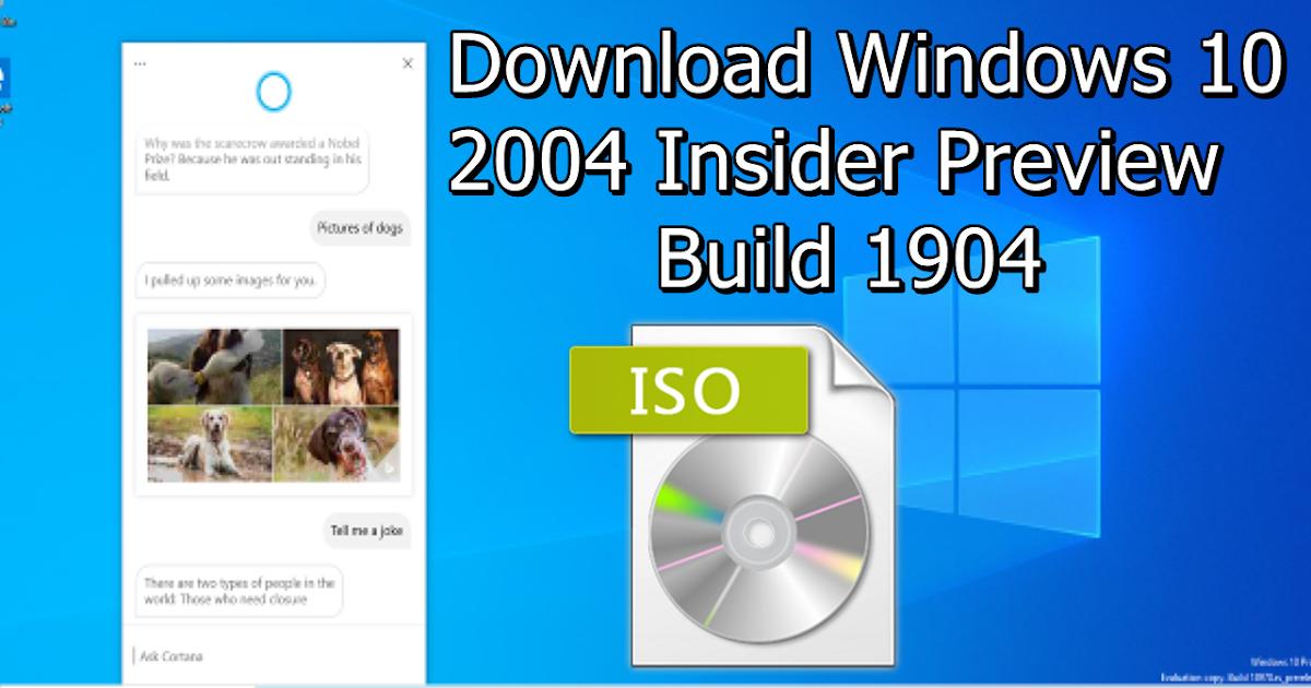 Windows 10 2004 Iso