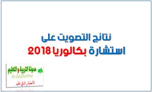 نتائج التصويت على استشارة بكالوريا 2018