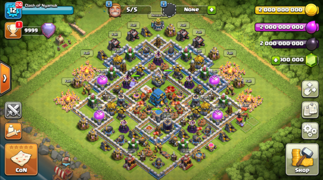 Download Clash of Clans Mod Apk TH 12 Terbaru