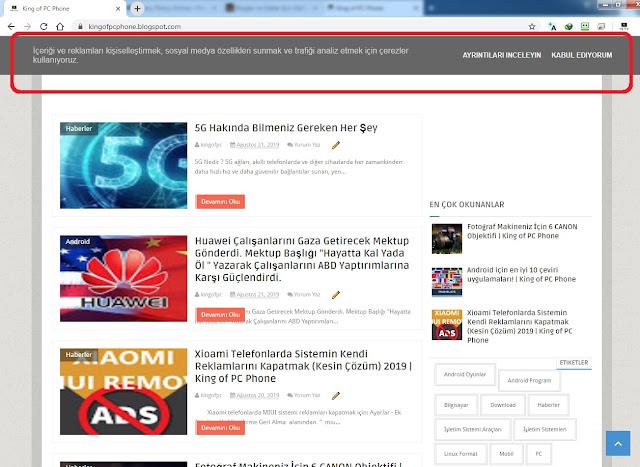 Blog ve Siteler İçin Gizlilik Politikası Yapma Sitesi