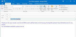 Out of Office AutoReply