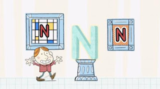 A boy appears at the N museum. Sesame Street Alphabet Songs