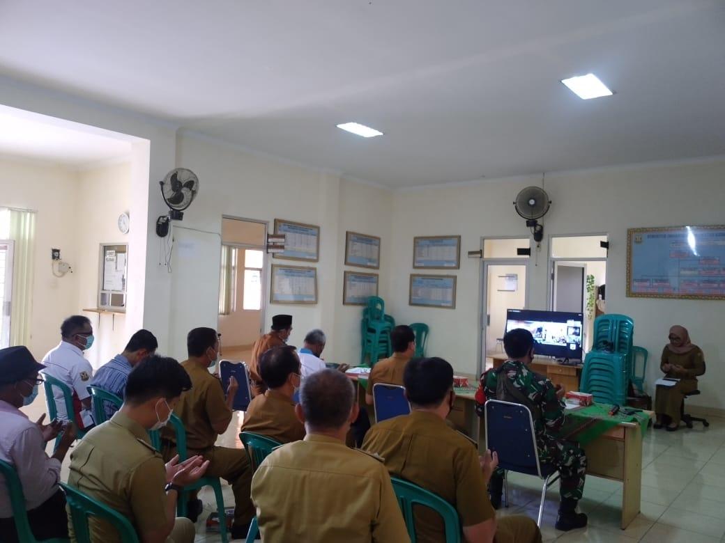 Babinsa Koramil 410-04TKT Kodim 0410KBL Serka Selamet menghadiri kegiatan Musrenbang lanjutan
