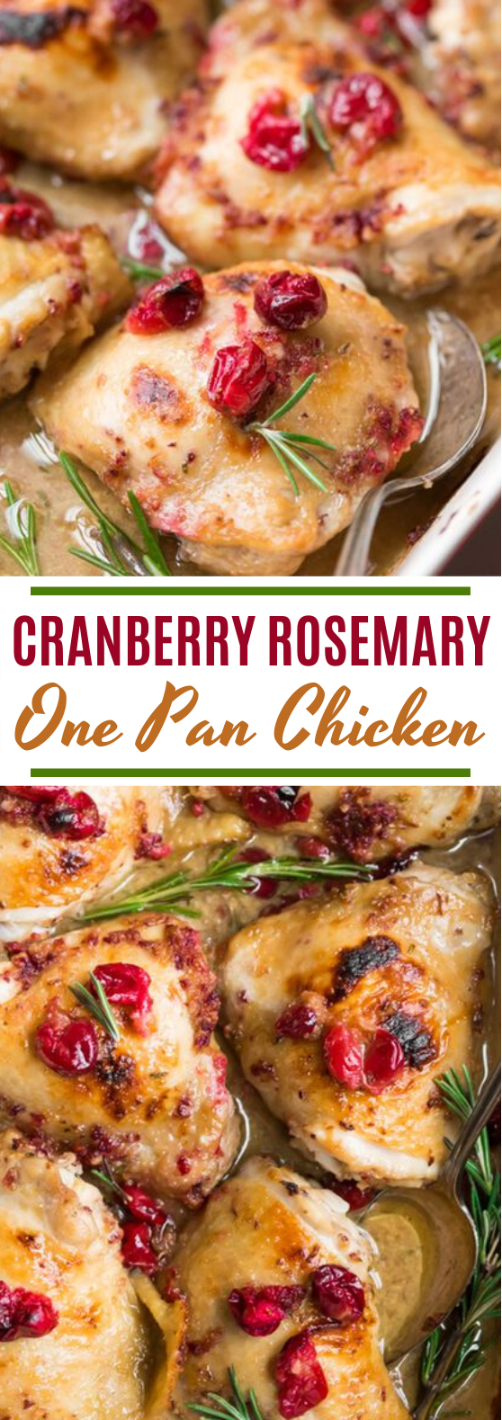 Cranberry Rosemary One Pan Chicken (Paleo, Whole30 Option) #dinner #chicken #healthy #christmas #recipes