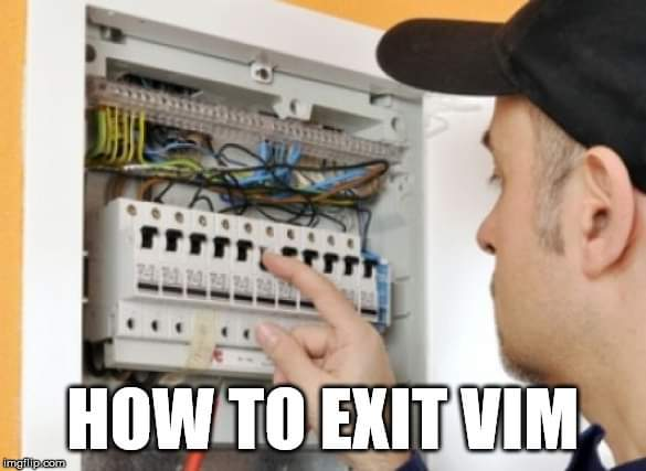 how to exit vim