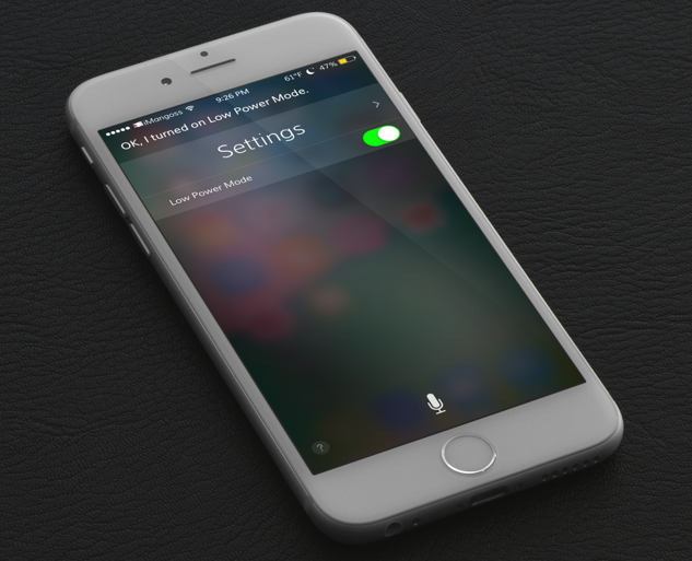 Now Siri can help you enable Low PowerMode on your iPhone very quickly. As Apple introduces Low Power Mode on iOS 9 which actually fixes battery life