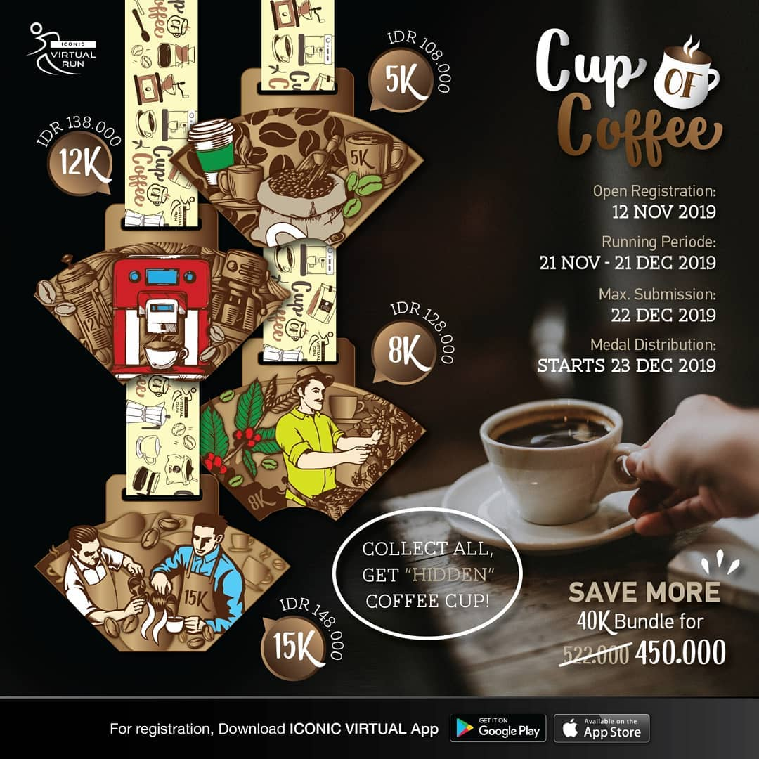Iconic Virtual Run - Cup Of Coffee Series • 2019