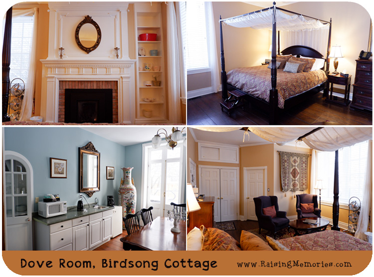 The Dove Room at Birdsong Spa Cottage at Sainte Annes Spa in Ontario Canada