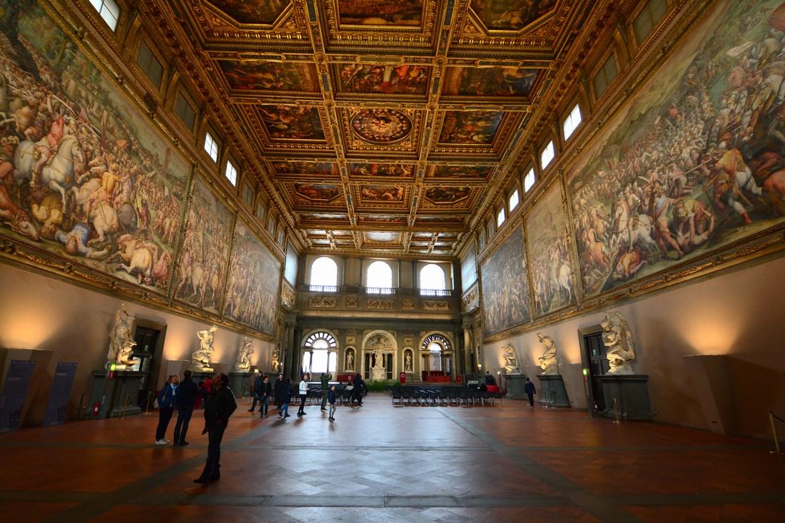 sallon des cinq cent Palazzo Vecchio Florence