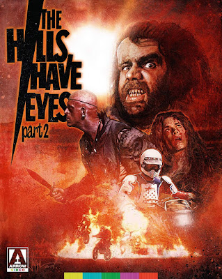 Blu-ray cover for Arrow Video's Limited Edition Blu-ray of Wes Craven's THE HILLS HAVE EYES PART 2.