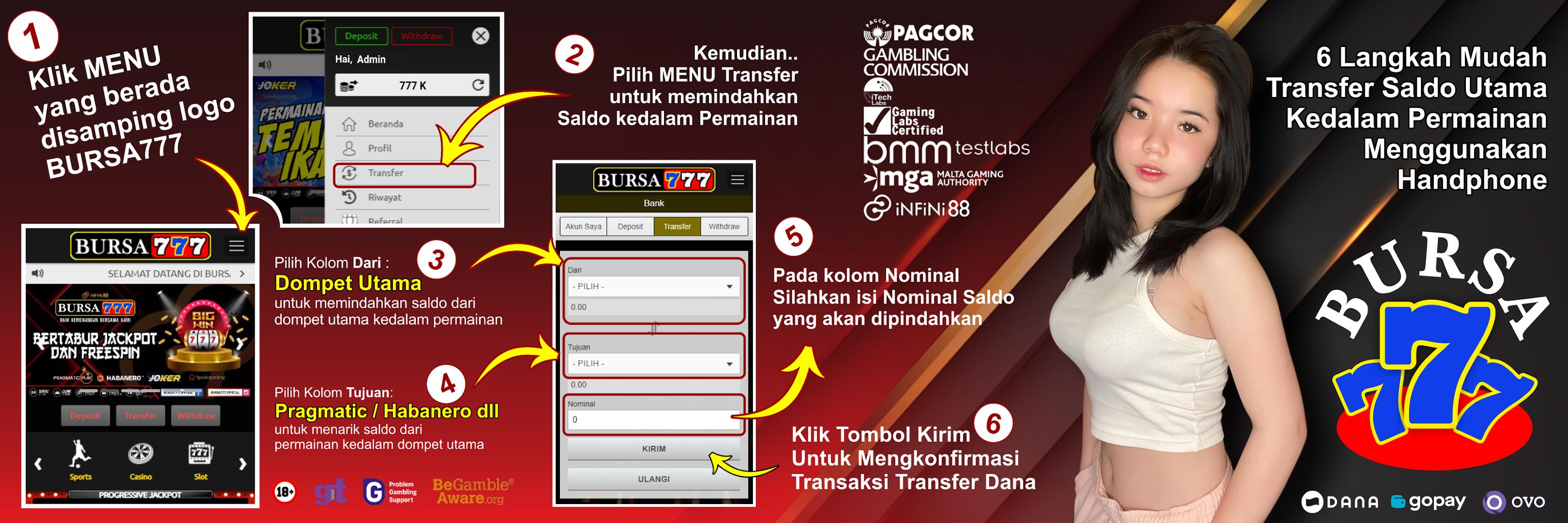 Cara Transfer Saldo di Bursaslot 777