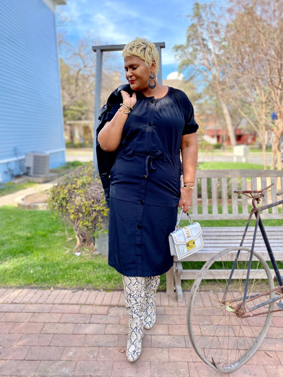 Sharing how she styled her Monday Outfit by mixing and matching thrift with luxury. Judge My Style Seen First On Bits and Babbles Blog