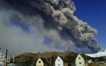 volcán Copahue 23 de Enero 2013