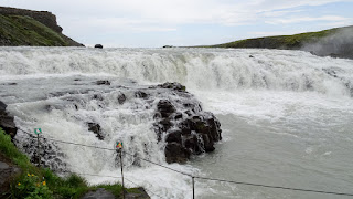 Impressive waterfall in Iceland