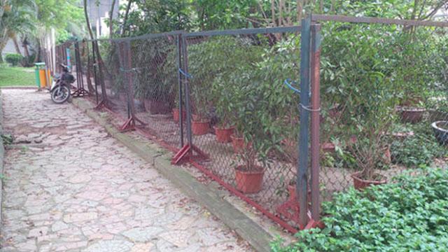 Công viên hô Thành Công bị lấn chiếm