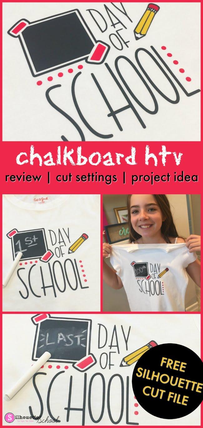 chalkboard heat transfer vinyl, chalkboard htv, silhouette 101, silhouette america blog, heat transfer vinyl