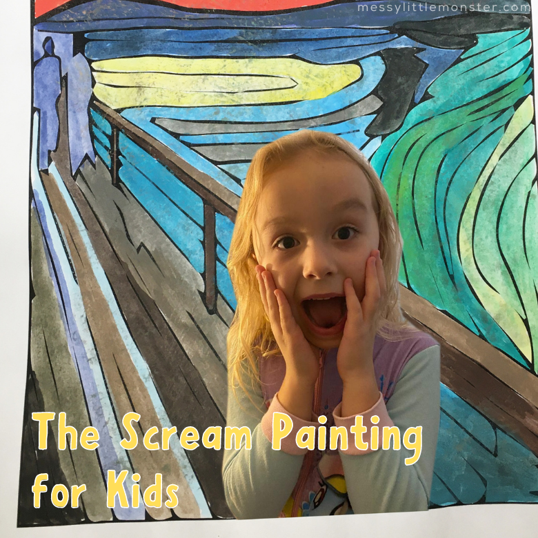 Famous artists for kids - Edvard Munch The Scream Painting