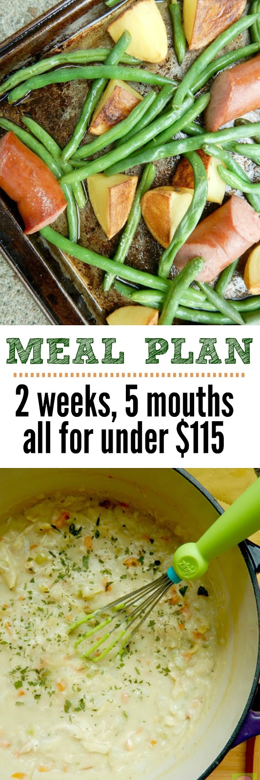 meal plan: 2 weeks, 5 mouths, all for under $115 #sweetsavoryeats